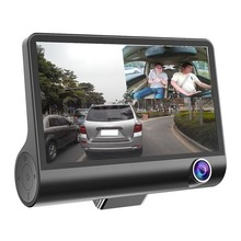 Car DVR Driving Recorder 4 Screen 3 Lens6-layer Glass HD 1080P 170 Degree Wide Angle Parking Monitor G-Sensor Camera