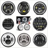 Motorcycle Part 7 LED Headlight 40W 60W 80W 90W Halo 7 Inch Headlamp / 4.5 Inch LED Passing Fog Lights