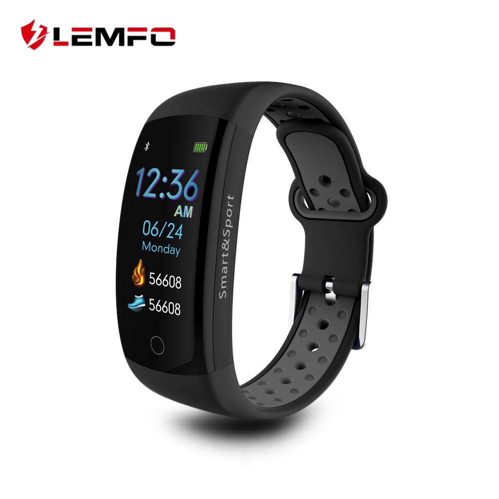 LEMFO 0.96 Inch 3D Color LCD Screen Professional Sport Smart Band IP68 Waterproof GPS Fitness Activity Tracker Pedometer 1 5 lcd 3d sensor multifunction pedometer storage pedometer black silver 1 x cr2032