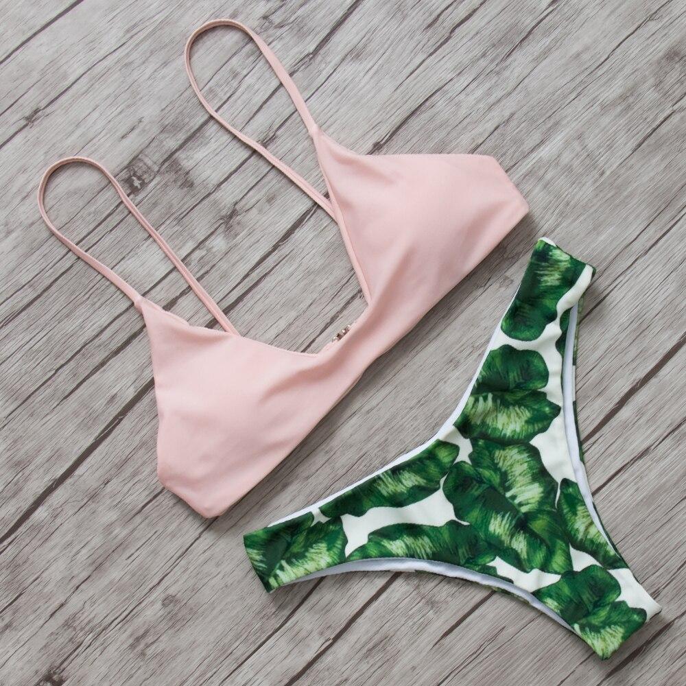 Bikini 2018 Bikinis Set Women Sexy Swimsuit Swimwear Brazilian Biquini Bandage Push Up Swimwear Female Beachwear Bathing Suit  2
