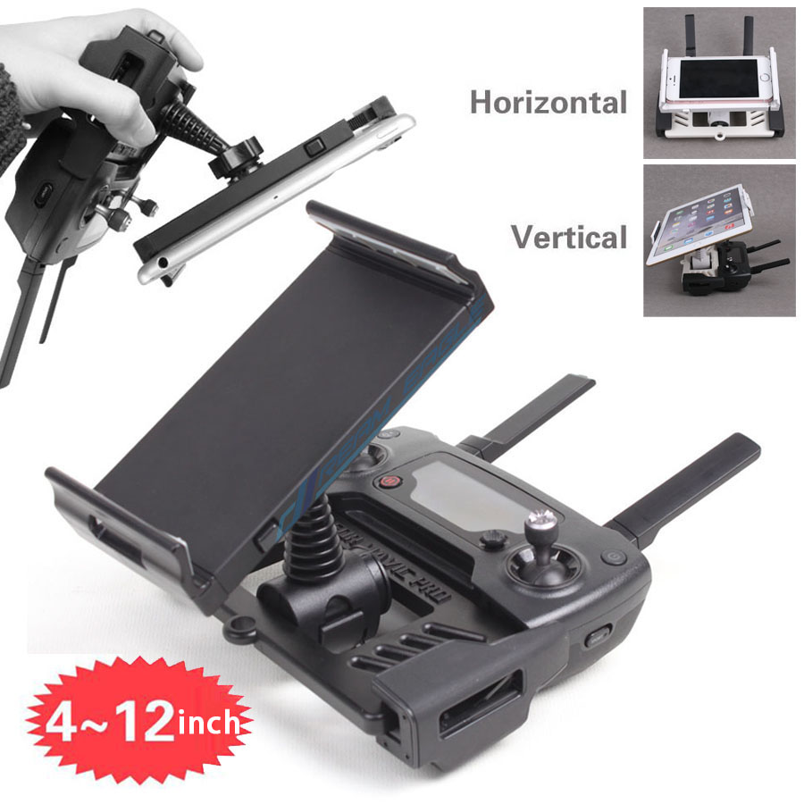 dji-font-b-mavic-b-font-pro-accessories-4-12-inch-remote-controller-bracket-tablet-phone-holder-font-b-mavic-b-font-2-pro-air-mount-stretch-bracket-clip