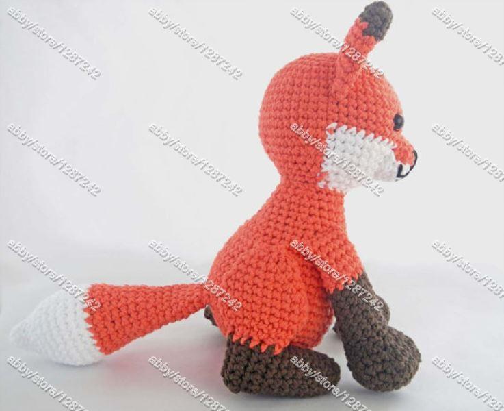 Mejor ganchillo venta Amigurumi zorro Kawaii Animal de peluche hecho ...
