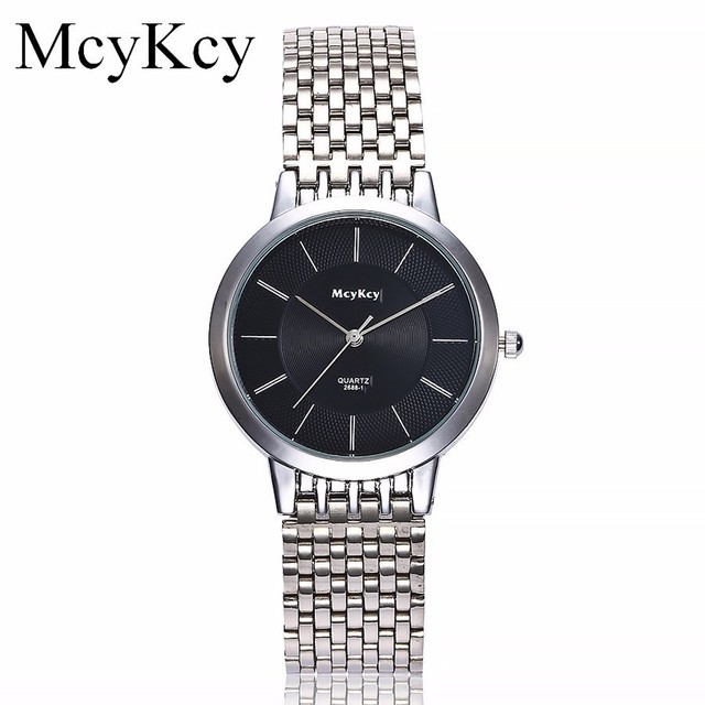 Hot Sale McyKcy Lovers' Watch Top Brand Luxury Couples Business Wristwatches Ful
