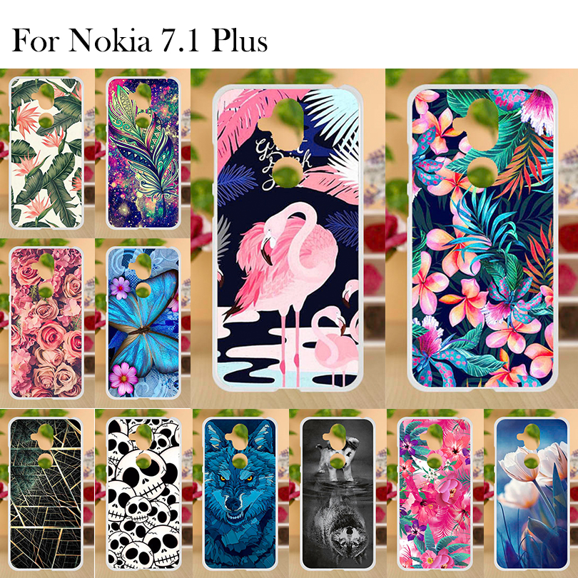 Phone Case for Nokia 7 1 Plus Case Nokia 7 1 Plus Cover Silicone 6 184 TPU Soft Back Cover For Nokia 8 1 Case Bumper Shell in Fitted Cases from Cellphones Telecommunications