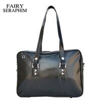 FAIRY SERAPHIM Japanese School Bag Uniform Bag Laides Shoulder Bags High College Students PU Leather Messenger Bags