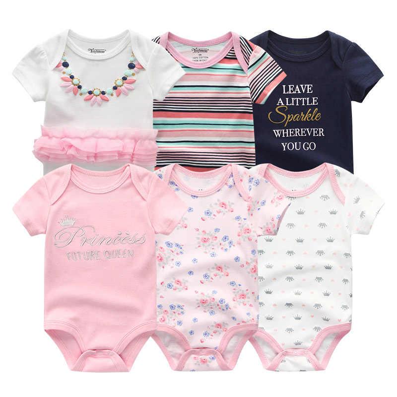 2020 Nieuwste 6 Stks/partij Baby Meisje Kleden Roupa De Bebes Baby Boy Kleding Eenhoorn Baby Kleding Sets Rompertjes Pasgeboren Katoen 0-12M