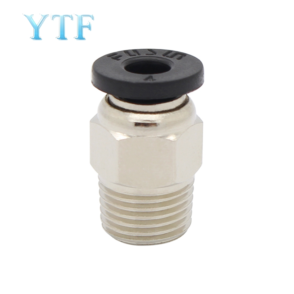 5pcs 3D Printer Parts Through V6 Quick Connector Feed Pipe Connector M4 Diameter M10 Thread Teflon Fittings Pc4-01