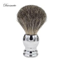 純粋なアナグマ高品質毛シェービングブラシで金属ハンドルシェービングブラシ用剃る理髪ツール