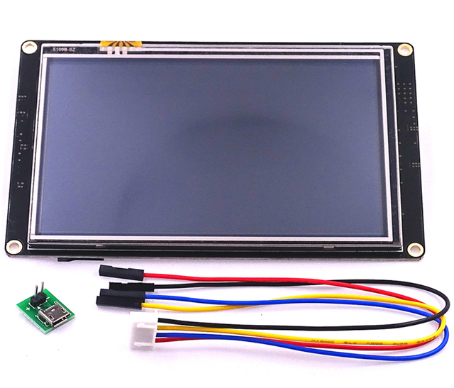 NX8048K050 Nextion 5.0 تعزيز HMI ذكي الذكية USART UART اتصال المسلسل TFT وحدة عرض LCD لوحة ل التوت بي كيت