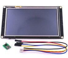 Om nextion 5.0 tela lcd, painel para raspberry pi com melhoramento inteligente, usart, touch screen, display de lcd, para raspberry pi