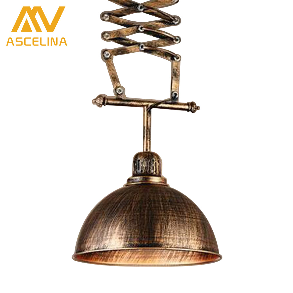 Lifting Lamp telescopic lamp rural modern minimalist chandeliers restaurant industrial wind three single creative wrought iron цена