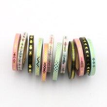 ФОТО new 3pcs  series slim washi tape set 5mm*7m split line masking tapes decoration stickers stationery school supplies