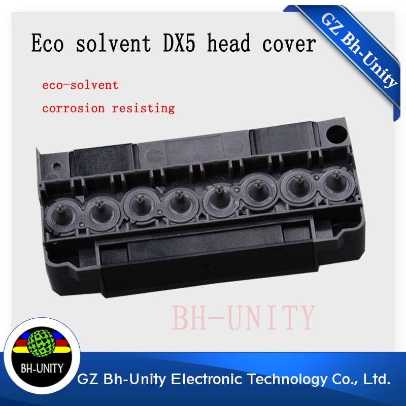 Made in china dx5 printhead cover manifold head cover for galaxy wit-color solvent inkjet printer part original dx5 printer head made in japan with best price have in stock for sale