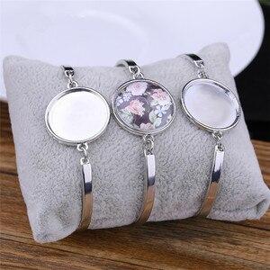 Image 4 - Sublimacji puste bransoletki dla kobiet moda hot druk transferowy bransoletka biżuteria diy materiały eksploatacyjne New arrival 20 sztuk/partia