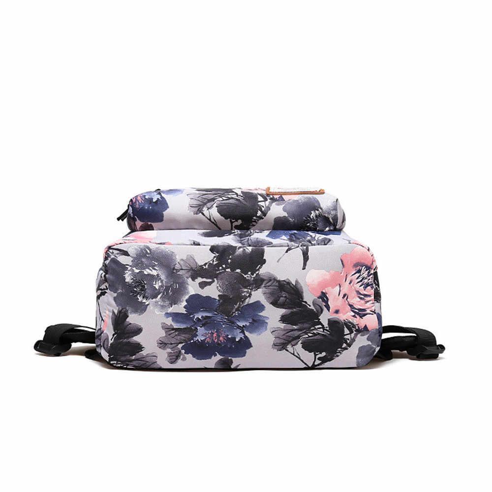 Dai Yao 2019 New Mini Flower Printing Women Backpack School Bag for Teenage Girls Bookbag Laptop Backpacks Casual Daily Bags