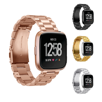 Metal Strap for Fitbit Versa 2 Band Stainless Steel Watchband Bracelet for Fitbit Versa Lite Replacement Band Accessories