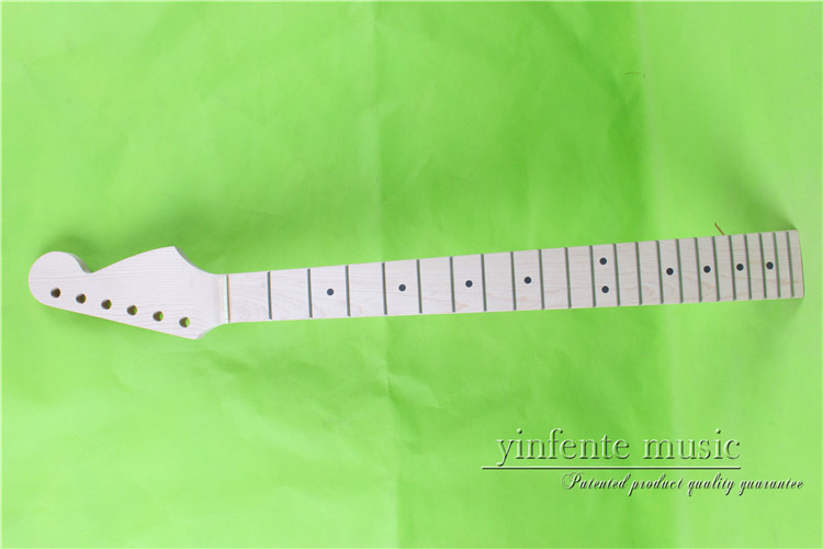 007# 25.5   Electric guitar neck      maple    made Bolt on maple    fingerboard fine quality  22  fret one electric bass guitar neck high quality maple made with ebony fingerboard 21 fret