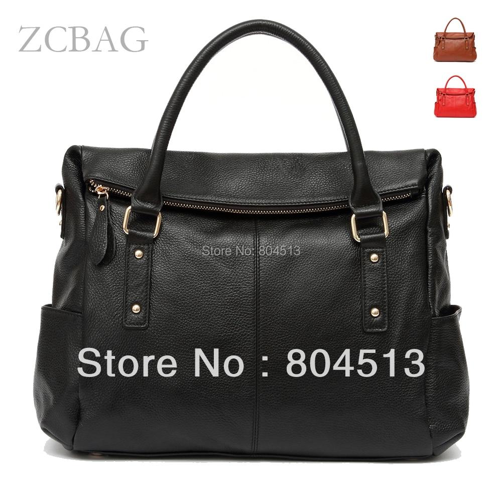 Trunk Designer 100% Genuine Real Leather Fashion Women Handbag Ladies Business S