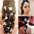 Flor noiva hairddress jóias weddding decoração artesanal acessórios de pérolas vestido de noiva Estúdio Fotografia cocar