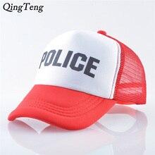 Police Print Letters Baseball Cap For Boys And Girls Summer Breathable Mesh Children Snapback Hat Outdoor Visor Hats