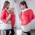 Одежда для беременных Комфортно Материнства Пальто Сгустите Потепление Хлопок Одежда Для Проведения Младенцы Беременных Женщин Куртки 2 в 1