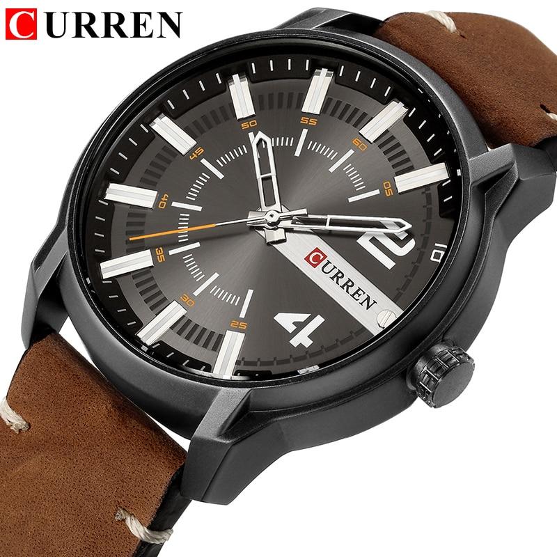 CURREN Watches Men Watch Luxury Brand Analog Men Military Watch Reloj Hombre Whatch Men Quartz Male Sports Watches цена 2017