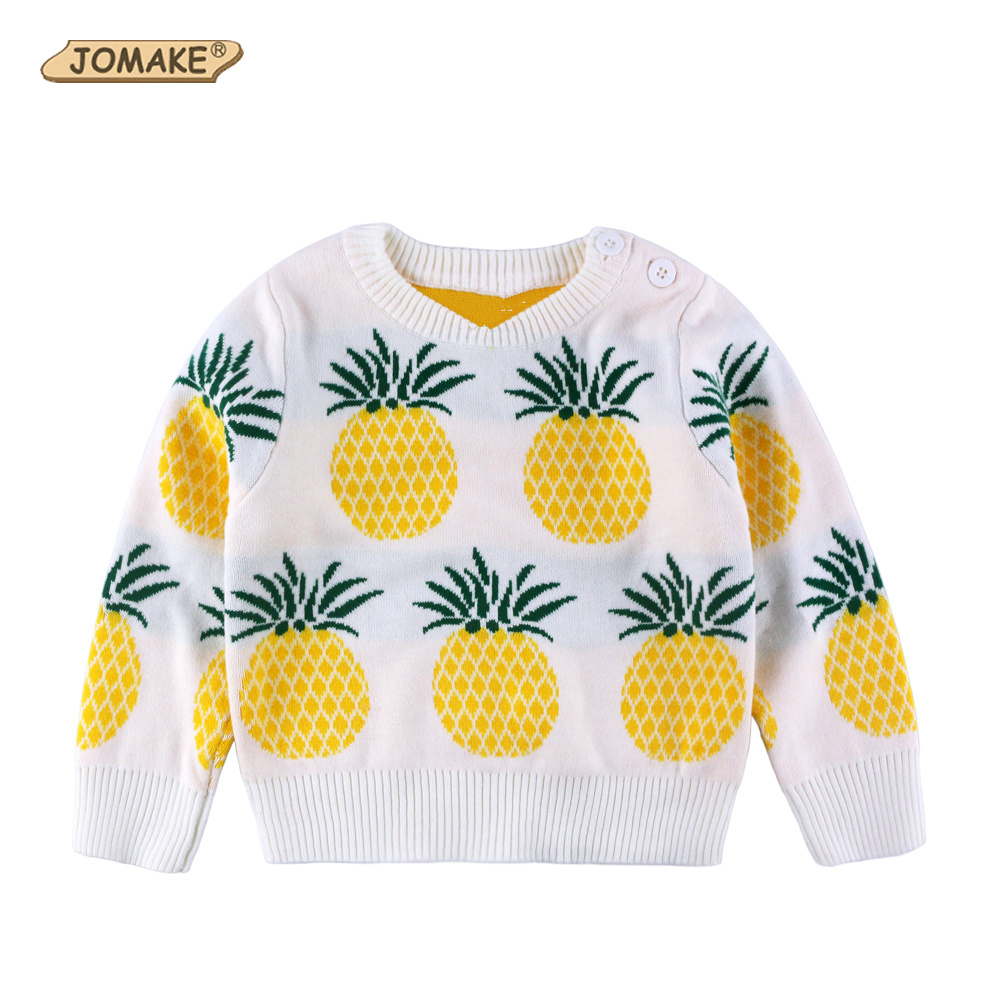 Hot Sell Children O-Neck Pineapple Sweaters For Baby Girls And Boys New Style Cute Pattern Knitted Toddlers Pullover Clothing