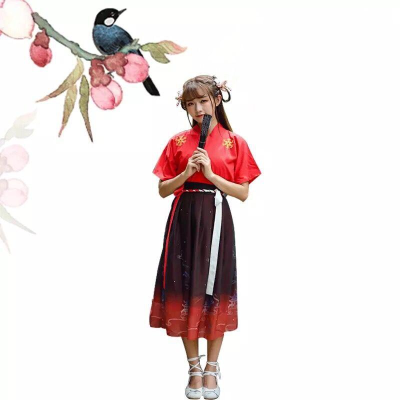 Été ancien Costume femmes Hanfu robe chinoise traditionnelle dynastie danse Costume Hanfu vêtements chinois fée robes DQS1626