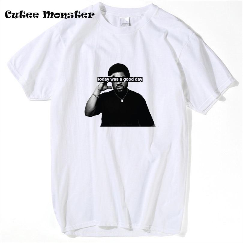 Glace Cube Aujourd'hui a été une Bonne Journée T shirt Hommes 2017 D'été hip hop Caractère 3D N.W.A T-shirt camisas À Manches Courtes plus la taille XS-3XL