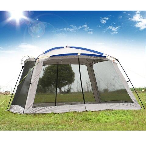 pergola de malha unica camada exterior sol shading tenda 4 cantos caramanchao do jardim multiplayer