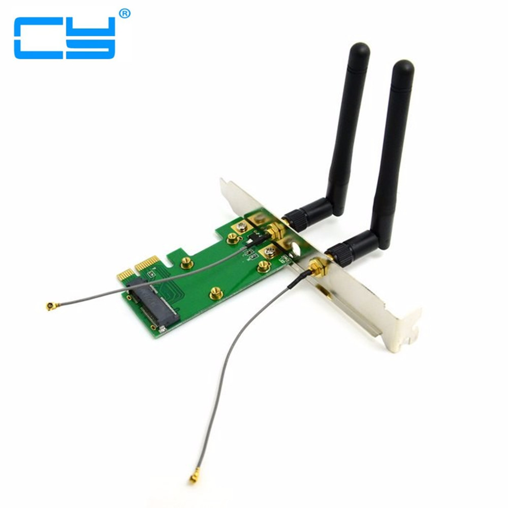 pci-e Mini PCI-E pcie pci express to pcie PCI-E Express Wireless adapter Card with Dual Antennas Network Internet Computer WiFi