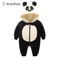 Winter Rompers 0 18M Baby Boy Girl One Piece Long Sleeve Cotton Newborn Cute Panda Jumpsuits