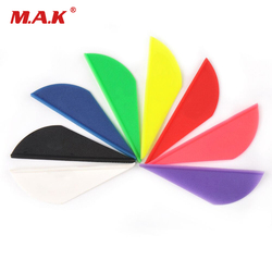 36/60 pcs/lot 2 Inches Plastic Feather Arrow Vans DIY Arrow Fletching Accessory for Archery Hunting Shooting
