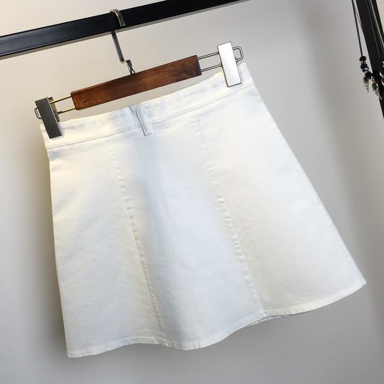 HTB1 YjEKVXXXXajapXXq6xXFXXXj - American Apparel button Denim Skirt JKP265
