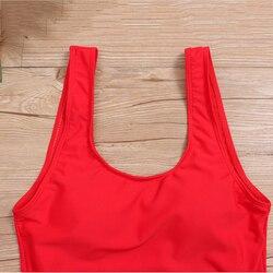 Женский купальный костюм, новый цельный купальник, черный и красный, два цвета, женский купальник, купальник, пляжная одежда, купальный кост... 6