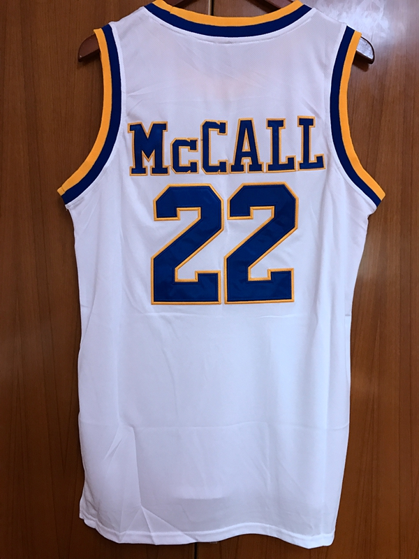 ce0563d453e ... quincy mccall 22 crenshaw high school basketball jersey movie love  basketball all stitched white in basketball