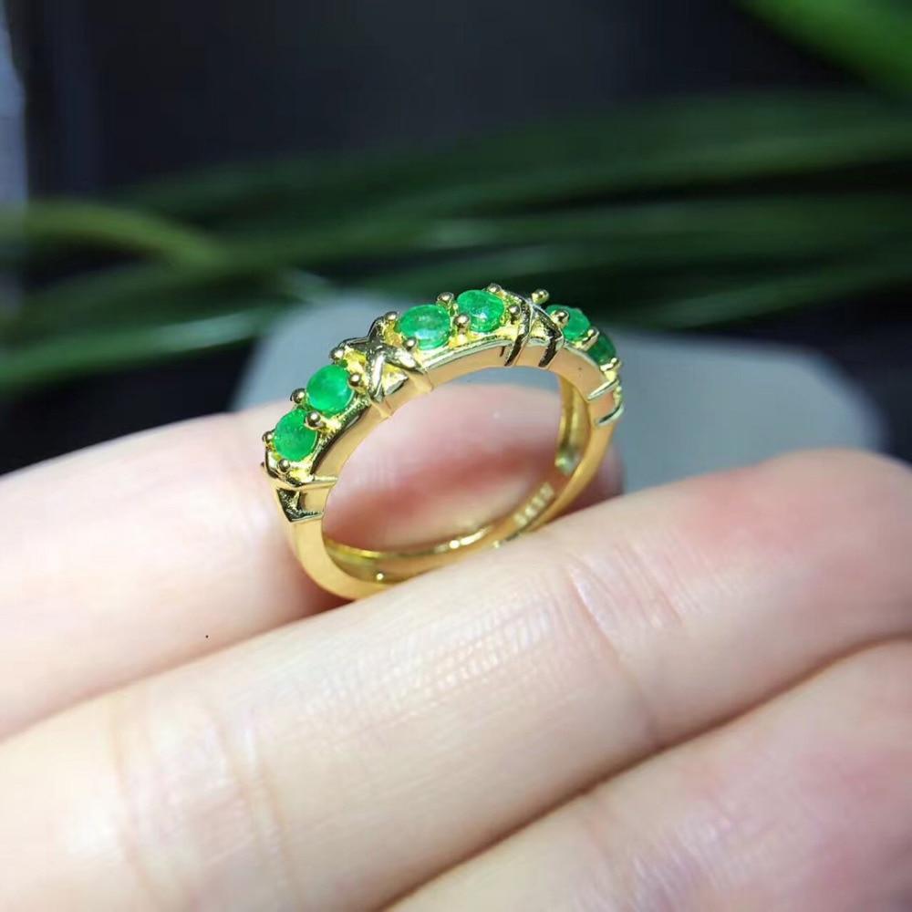 Распродажа Anillos Qi Xuan_Trendy Jewelry_Colombia зеленые камни Мода Rings_Plated желтое золото Женщина Rings_Factory прямые продажи