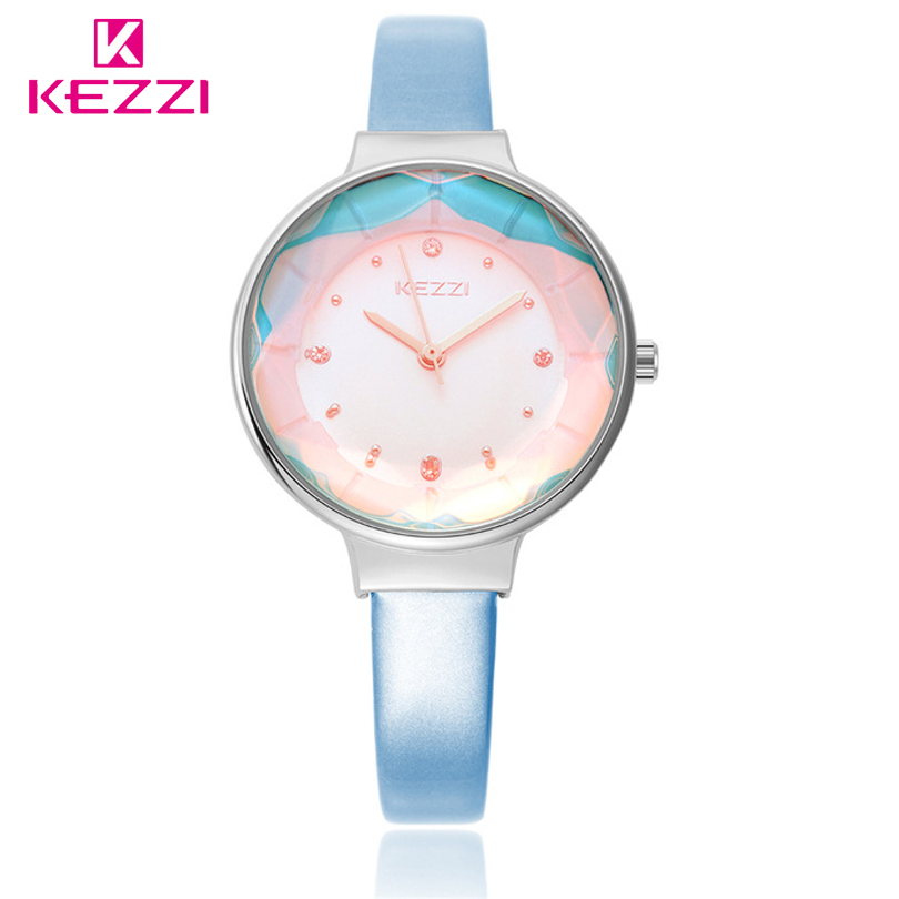 KEZZI Brand Quartz Wristwatch New Female Luxury Dial With Women Fashion Style Classic Leather Watches Ladies Watch Gift Clocks 2016 kezzi official authorize brand 2016 new fashion watch women gold luxury bracelet wristwatch ladies famous quartz watch kz80