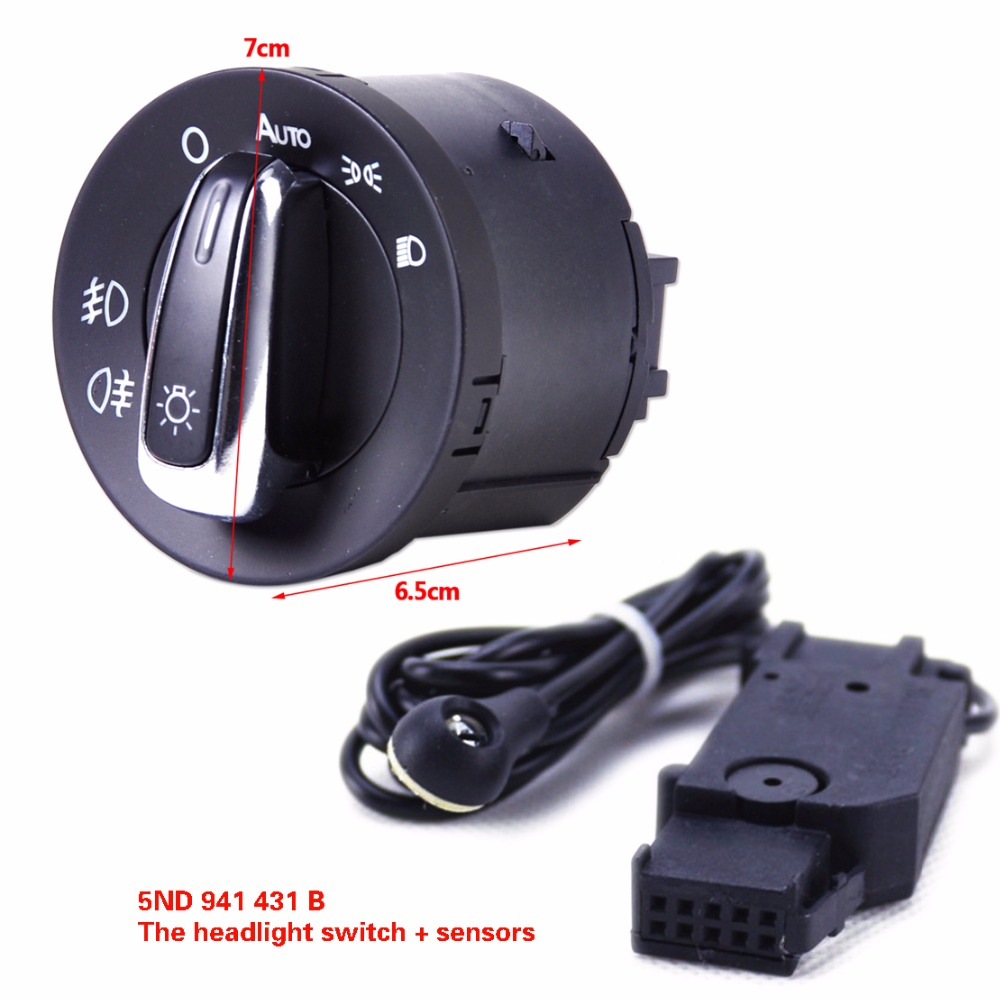 chrome headlight fog lamp switch control phare auto. Black Bedroom Furniture Sets. Home Design Ideas