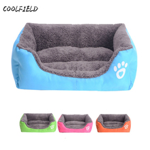 2017 Warm Pet bed for Dog Cat House Soft Nest Candy Color Puppy Beds Fall and Winter camas de perros Free Shipping