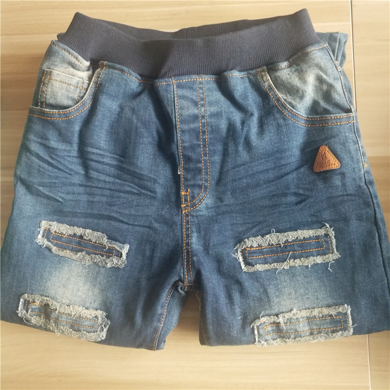Children Clothing Boys Pants Ripped Hole Jeans 2019 Spring Light Wash Boys Pants for Kids Warm Thicken Children 39 s Jeans P020 in Jeans from Mother amp Kids
