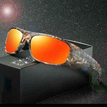 04ade0f684 NEWBOLER pesca gafas polarizadas camuflaje de las mujeres de los hombres de  camuflaje deporte Sungasses ciclismo senderismo Camping corriendo pesca  gafas