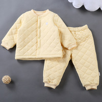Newest Baby Winter Suit Coverall Infant Toddler Warm Cotton Padded Clothing Set Long Sleeve Cardigan And