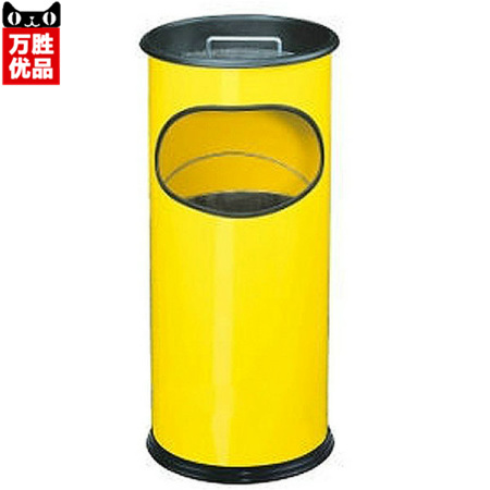 Yellow Block ash barrels hotel corridor office wastebasket trash barrels peel sales department trash