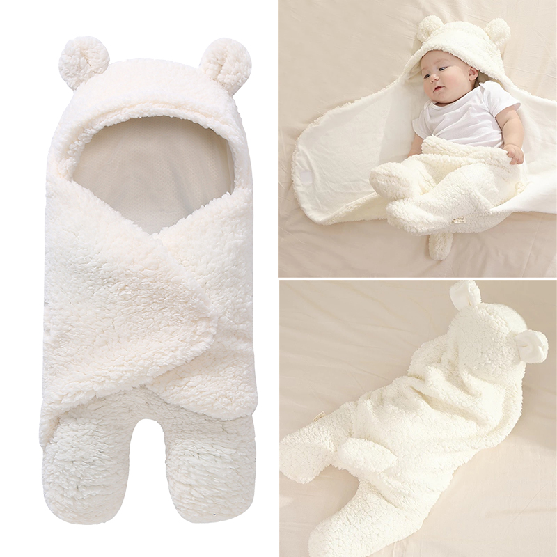 Cute Soft Baby Blankets Newborn Infant Baby Boy Girl Swaddle Baby Sleeping Wrap Blanket Photography Prop For Boys Girls 2018 New