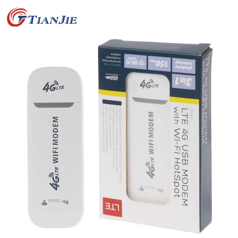 TIANJIE 4G LTE USB wifi modem 3g 4g usb dongle car wifi router 4g lte dongle adattatore di rete con slot per schede sim