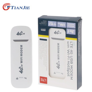 TIANJIE 4G LTE USB wifi modem 3g 4g usb dongle car wifi router 4g lte dongle network adaptor with sim card slot(China)