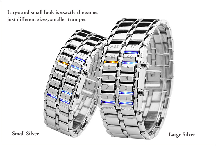2019 coolest watches couple digital sports mens waterproof alloy wristwatch ladies casual watch women bracelet watches in Lover 39 s Watches from Watches