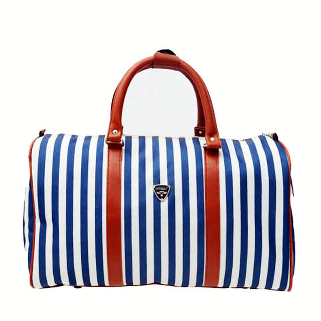 Hot sale waterproof gym bags new women yoga stripe handbag large capacity  travel crossbody bag girl working shop shoulder bag edee0bf11c