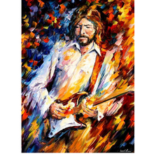 Hand Painted Landscape Abstract Figure Of Musician Palette Knife Modern Oil Painting Canvas Wall Living Room Artwork Fine Art